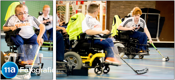 Training Nederlands team Rolstoelhockey op Papendal
