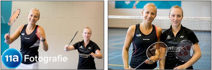 Eefje & Selena - Sportfotografie Badminton