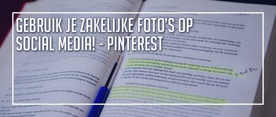 Pinterest zakelijk gebruiken met je bedrijfsfoto's