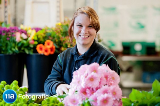 Bedrijfsreportage in bloemen distributiecentrum