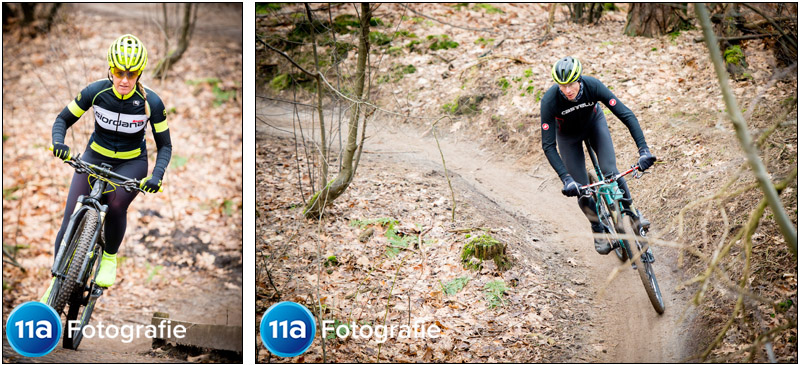 MTB foto van 2 mountainbikers op het parcours van Dorst