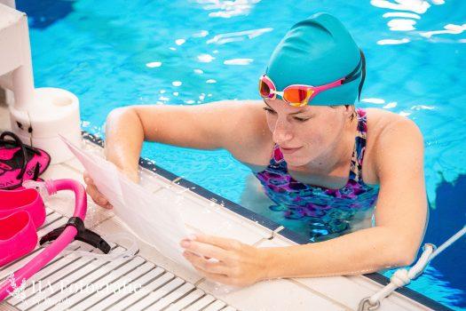 Reclame fotoshoot in het zwembad in Dordrecht