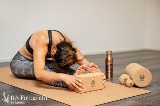 Yoga foto gemaakt in Nijmegen - Kurk accessoires