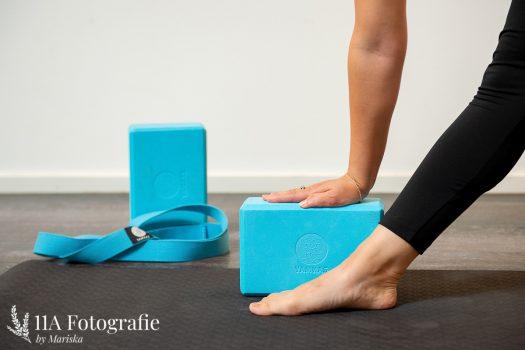 Yoga foto gemaakt in Nijmegen - Detailfoto hulpmiddelen